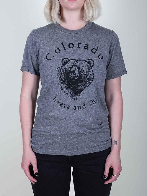 Colofkngrado tee - Bears & Shit - grey