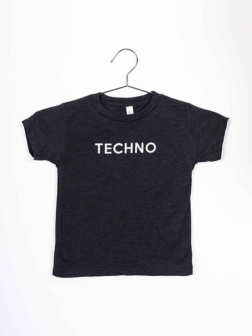FM Kids Techno Tee - black