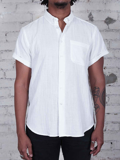 Naked & Famous Easy Shirt - white