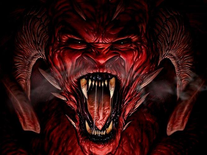 demon face Bad Ash Portrair