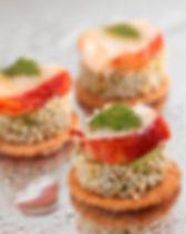Sablé_parmesan,_bavarois_petit_pois_au_s