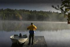 Fisherman on the dock