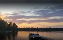 Sunset at Wajashk Cottages