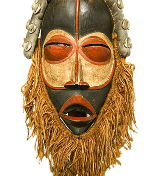 african tribal mask isolated on white