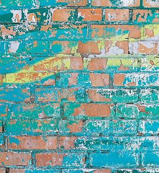 old-colorful-turquoise-yellow-paint-crac