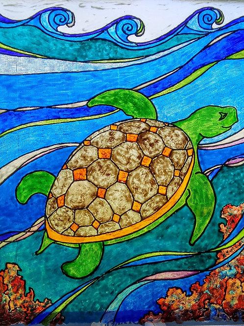 "Sea Turtle   16""x20"""