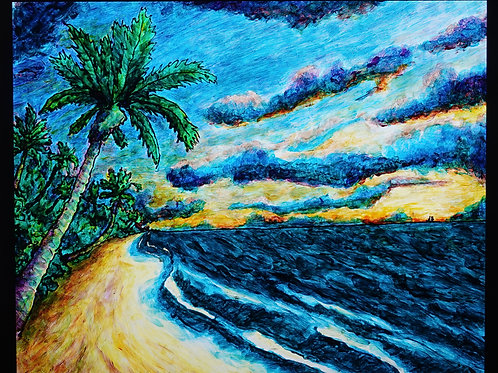 "Tropical Sunset   16""x20"""