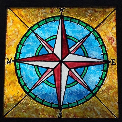 "Compass Rose   8""x8"""