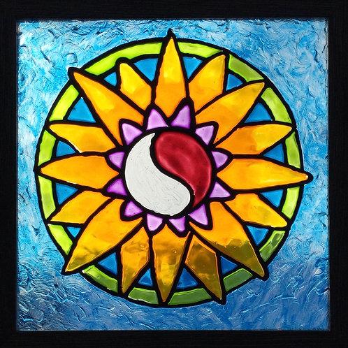 """Zen Sunflower   8""""x8"""""""
