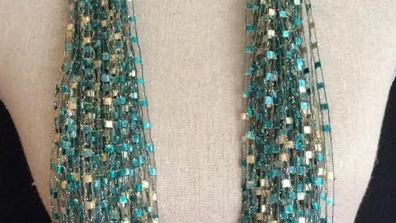 Emerald Ribbon Scarf