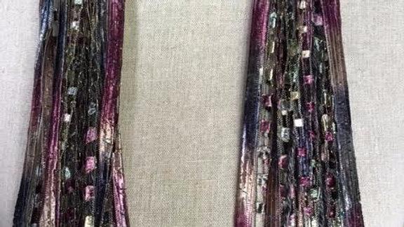 """Provence Long Mixed Ribbon Scarf 64"""""""