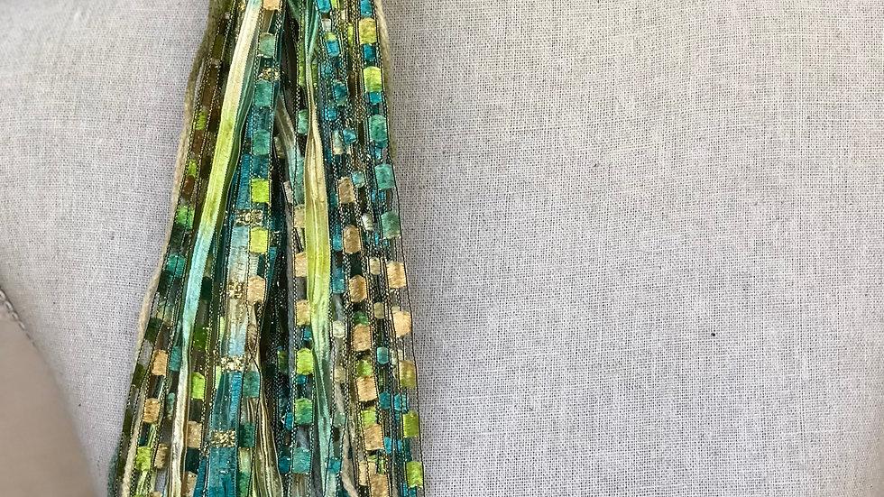 "Herb Garden 64"" Long Mixed Ribbon Scarf"