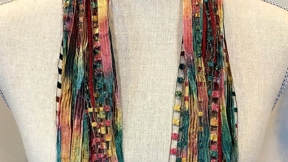 """Toscana Mixed Ribbon Scarf 64"""""""