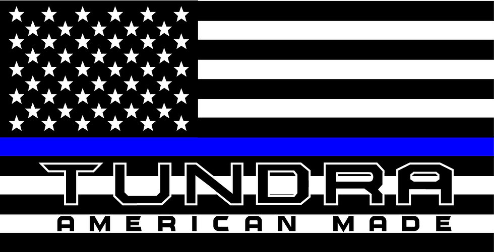TUNDRA AMERICAN MADE BLUE LINE DECAL