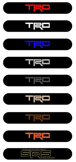 TRD DOOR HANDLE DECALS