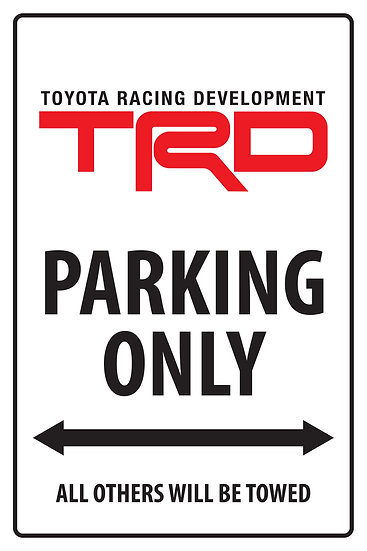 TRD PARKING ONLY