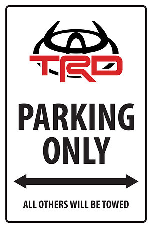 TRD DEVIL PARKING ONLY