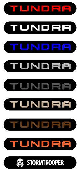 TUNDRA DOOR HANDLE DECALS
