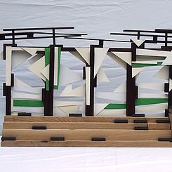 Sculpture Model for `On The Roof´ (Bold På Taget) tribune.