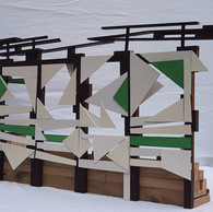Sculpture Model for the Aldersrogade `On The Roof´ Football Tribune.