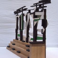 SkSculpture Model for `On The Roof´ (Bold På Taget) tribune.