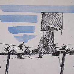 Galvin Harrison - Sketch for football tribune.