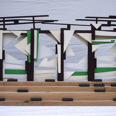 Sculpture Model for the Aldersrogade `On The Roof´ Football Tribune.