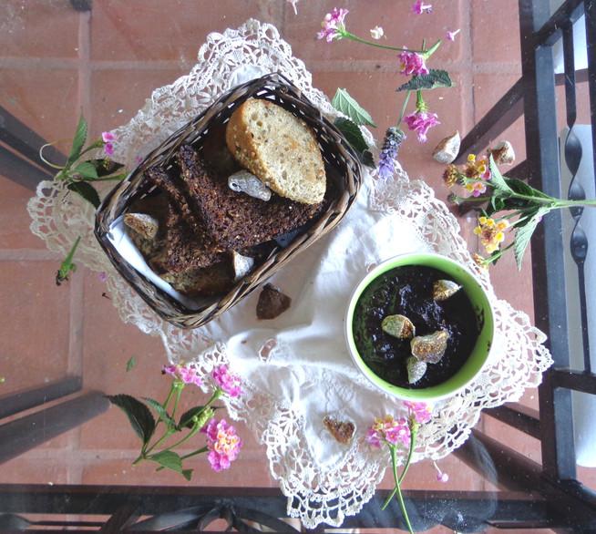 Шоколадно-инжирный крем с льняным семенем