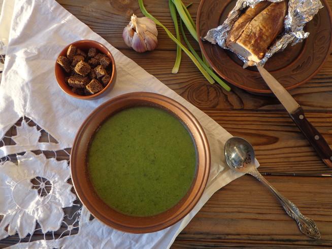Суп-пюре из брокколи (шпината)