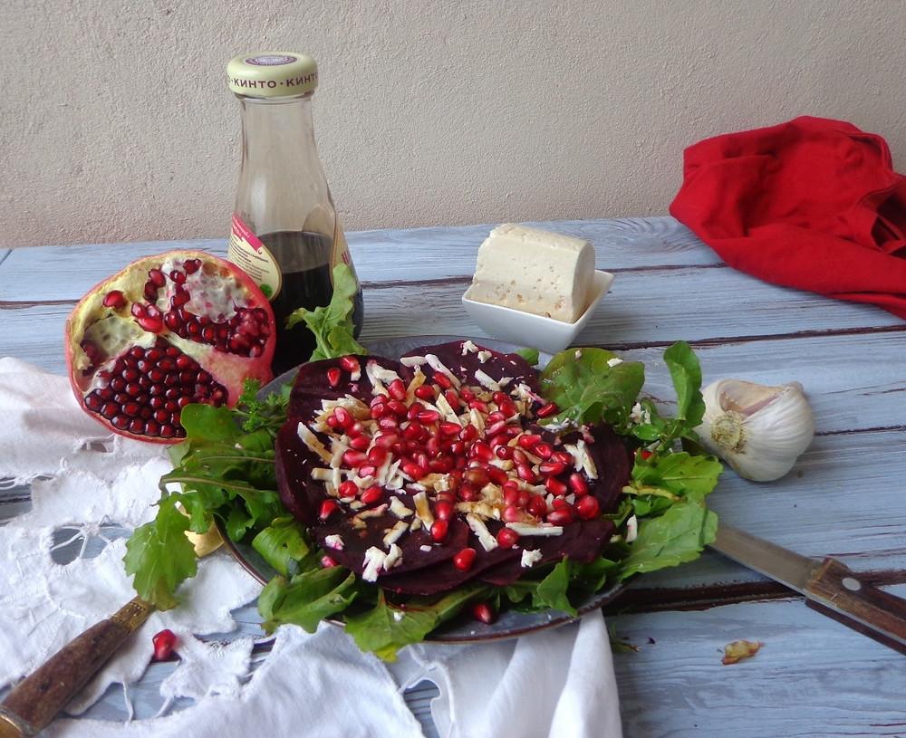 салат из свеклы с гранатом