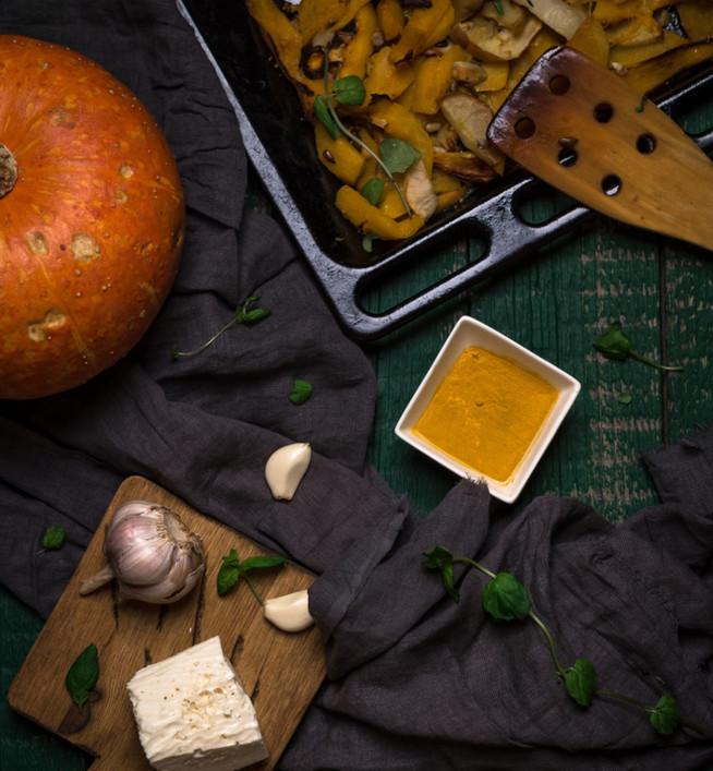 Запеченая тыква (или репа) с яблоком и сыром - идеальный детокс-ужин