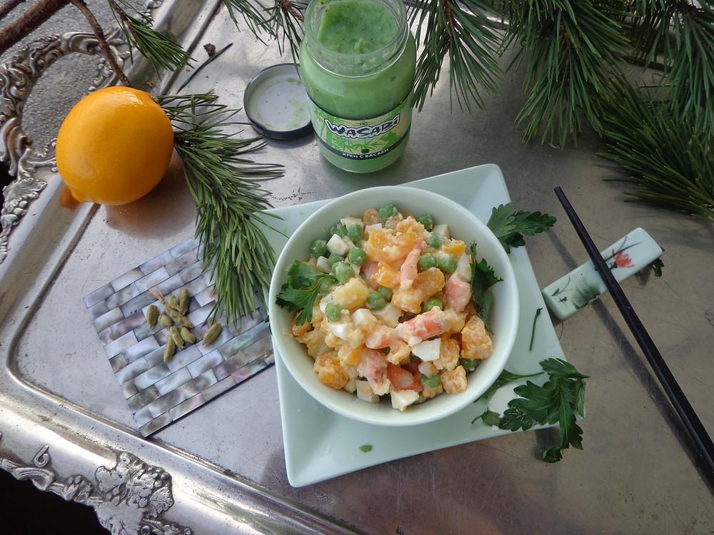 здоровый оливье салат