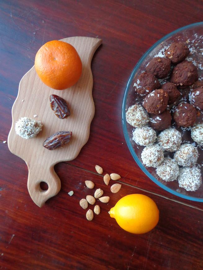Полезные конфетки из цитрусовых, сухофруктов и орехов