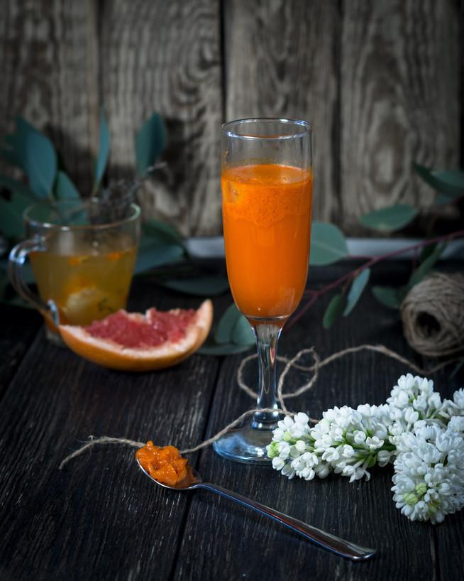 Оранжевое настроение: завтрак с облепиховым желе и облепихово-имбирным чаем