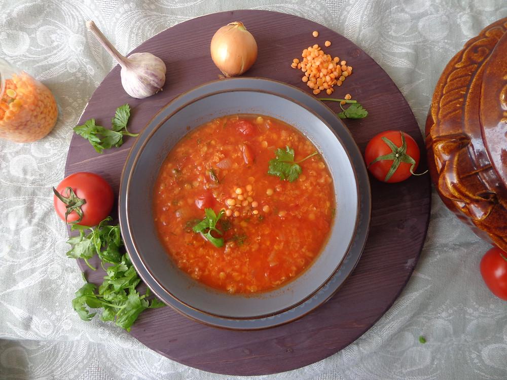 турецкий чечевичный суп с томатами