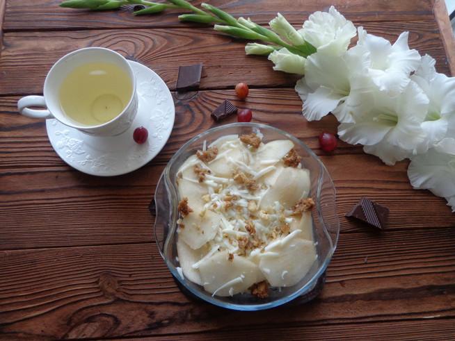 """Грушево-сырный """"хлебный пирог"""" с орехами и крыжовником"""