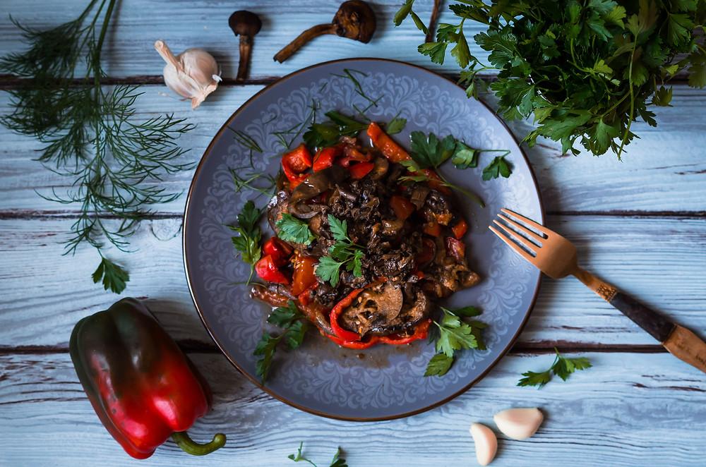 рецепт из баклажанов, рецепт из грибов