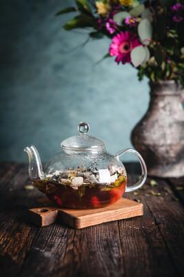 Травяной-цветочный чай из хризантемы и сибирского женьшеня