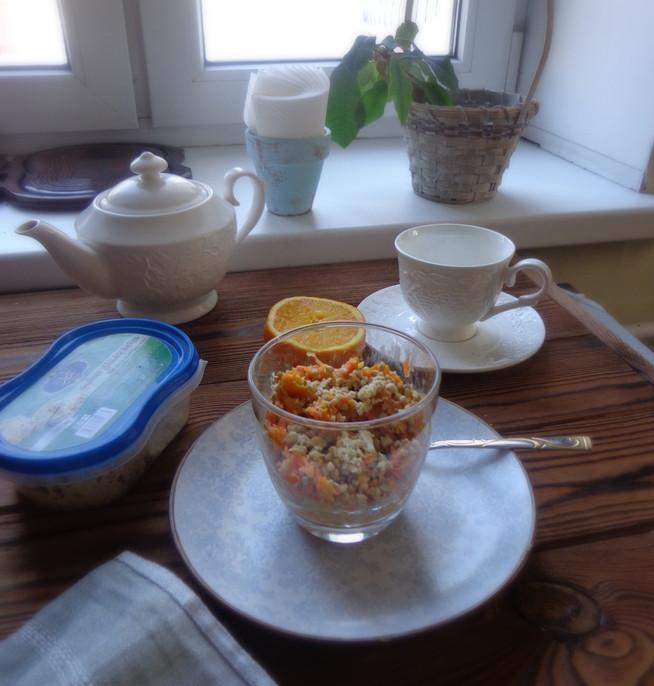 Детокс-завтрак из пророщенной гречки