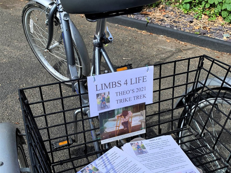 Theo' Trike Trek - 81 miles for Limbs for Life campaign