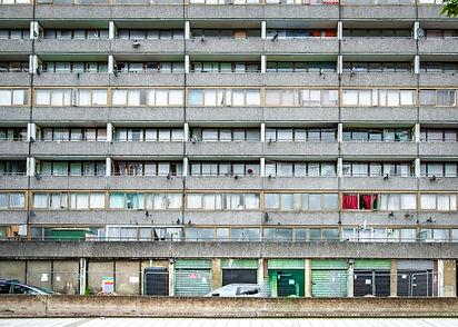 London council estate housing block- typ