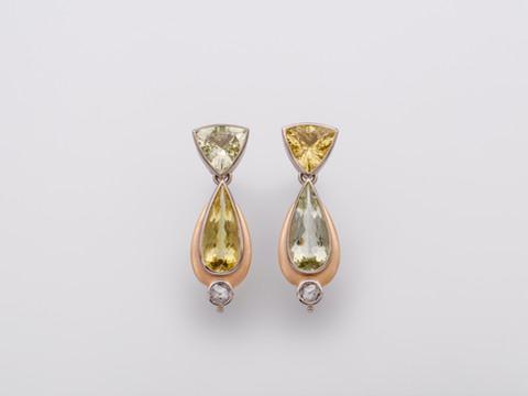 Beryll, Diamanten (rosecut)