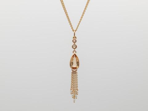 Imperialtopas, braune Diamanten (rosecut)