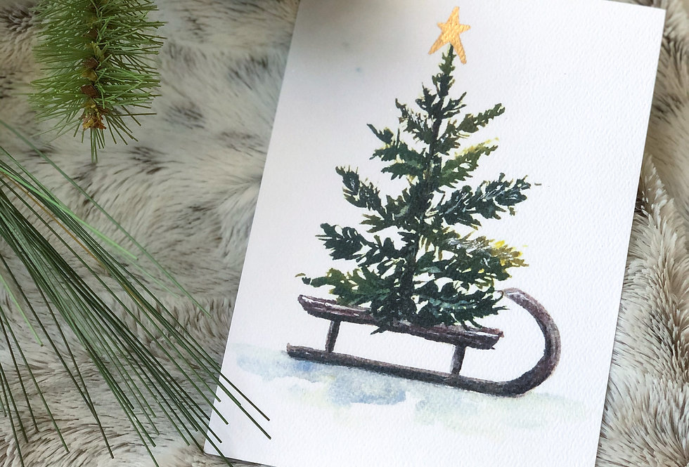 Tree on Sleigh