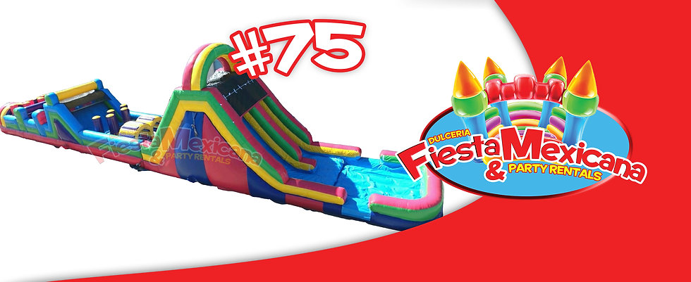 75ft long obstacle course 75. $395