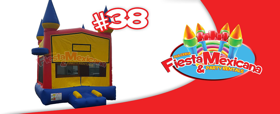 YELLOW BLUE RED INTERACTIVE CASTLE 38