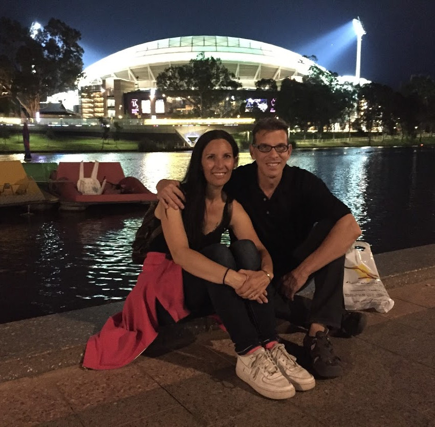 In front of the Adelaide Oval