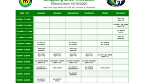 New Timetable 19/10/2020