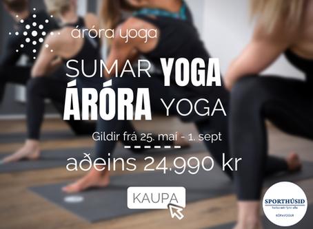 Tilboð í áróra yoga til 1. sept