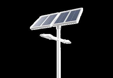 éclairage solaire double crosse pour parking